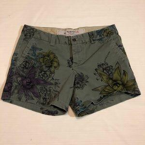 Burton green floral shorts